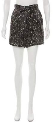Lanvin Silk High-Rise Printed Shorts w/ Tags