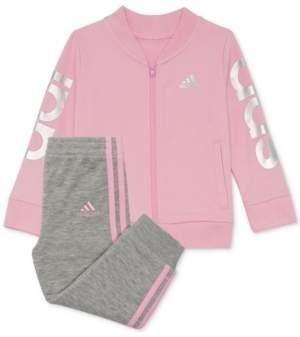 adidas Toddler Girls 2-Pc. Cotton Jacket & Jogger Pants Set