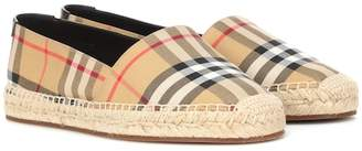 Burberry Check canvas espadrilles