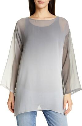 Eileen Fisher Sheer Silk Tunic