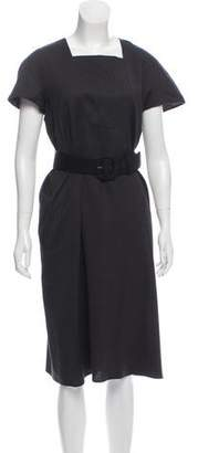 Ter Et Bantine Wool Belt-Accented Midi Dress w/ Tags