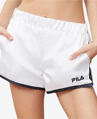 Fila Blanche Satin Shorts