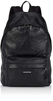 Balenciaga Men's Arena Leather Backpack - Black