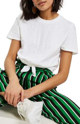 Topshop Knot Front Tee