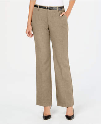 Charter Club Belted Tummy-Control Trousers