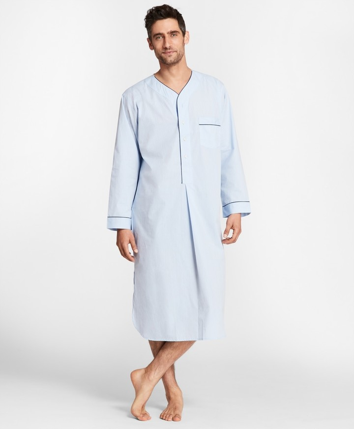 Brooks Brothers Pin-Dot Stripe Nightshirt