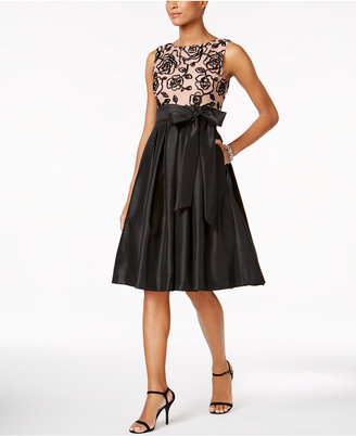 Jessica Howard Soutache Bow Fit & Flare Dress $109 thestylecure.com