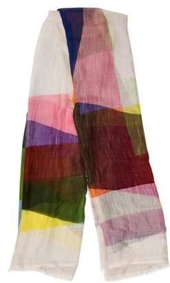 Faliero Sarti Multicolor Frayed Scarf