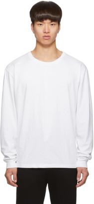 John Elliott White Classic Long Sleeve T-Shirt