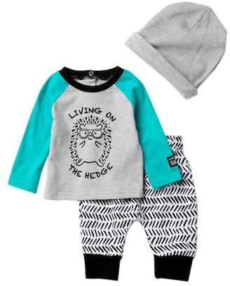 Baby Starters Hedgehog Tee, Pants & Hat Set (Baby Boys)