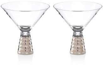Michael Wainwright Truro Platinum Martini Glass, Set of 2