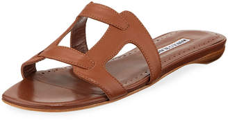 Manolo Blahnik Grella Cutout Leather Sandals