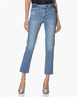 Paige Hoxton Straight Ankle Jean With Tie Waist