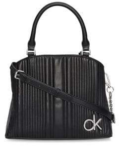 Calvin Klein Paige Quilted Faux-Leather Satchel