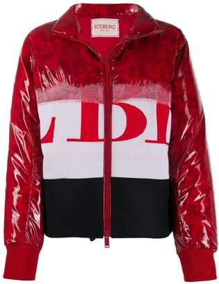 Iceberg contrast graphic-print puffer jacket