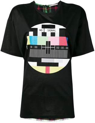 Marco De Vincenzo checked back panel T-shirt