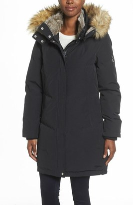 Women's Vince Camuto Down & Feather Fill Parka With Faux Fur Trims $258 thestylecure.com