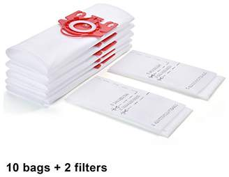 Miele 10 Pack FJM Vacuum Bags for Vacuums Cleaners (with 2 filters)
