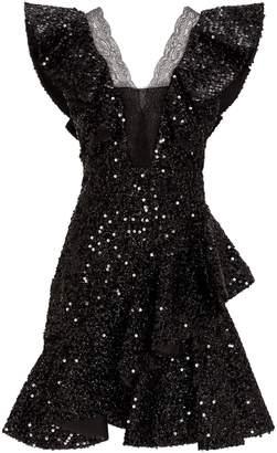 Paule Ka Sequin-Embellished Mini Dress