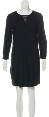 Band Of Outsiders Lace-Trimmed Mini Dress Black Lace-Trimmed Mini Dress