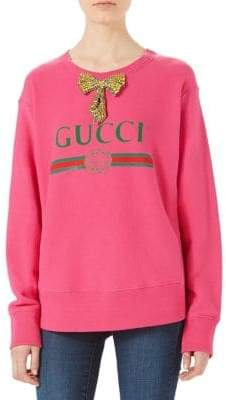 Gucci (グッチ) - Gucci Oversized Gucci Bow Sweatshirt