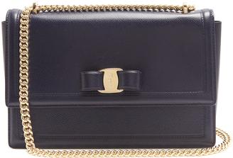 SALVATORE FERRAGAMO Ginny pebbled-leather shoulder bag $982 thestylecure.com