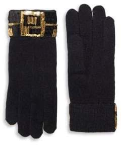 Portolano Sequin Trim Gloves