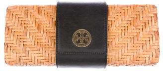 Tory Burch Tory Burch Vivian Rattan Clutch