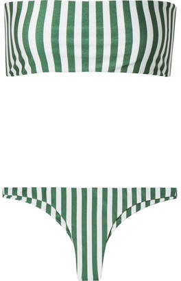 Faithfull The Brand Robin And Chrissy Striped Bandeau Bikini - Green
