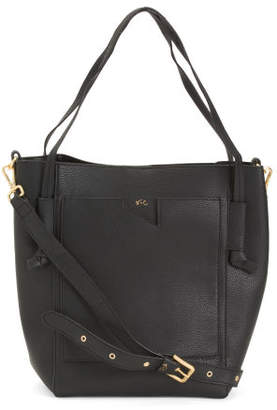Tote With Removable Pouch And Crossbody Strap