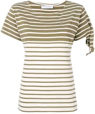 J.W.Anderson breton khaki Stripe knot t-shirt