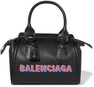 Balenciaga Monday Bowling S Printed Textured-leather Tote - Black