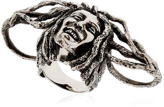 Manuel Bozzi Bob Marley Three Finger Silver Ring