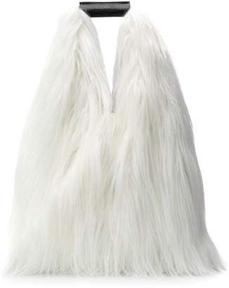 MM6 MAISON MARGIELA faux-fur tote bag
