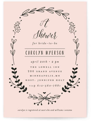 The Meadow Bridal Shower Invitations