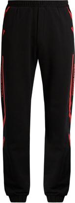 MARCELO BURLON Platon cotton-jersey track pants $188 thestylecure.com