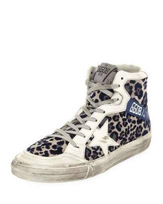 Golden Goose Superstar Leopard-Print High-Top Sneakers