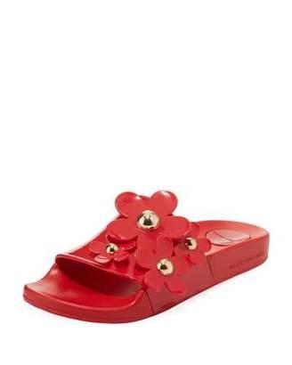 Marc Jacobs Daisy Aqua Pool Slide Sandal