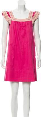 Marc by Marc Jacobs Crochet-Accented Mini Dress Fuchsia Crochet-Accented Mini Dress
