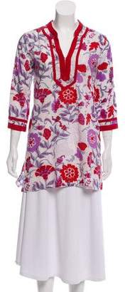Roberta Roller Rabbit Floral Print Long Sleeve Tunic