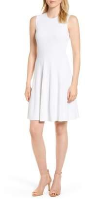 MICHAEL Michael Kors Keyhole Back Fit & Flare Sleeveless Dress