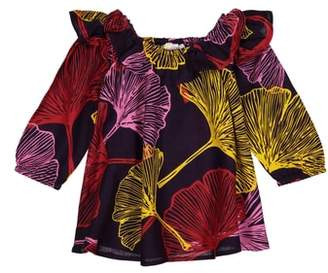 Masala Baby Anais Leaf Print Dress