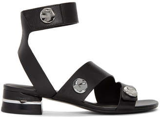 3.1 Phillip Lim Black 30MM Drum Sandals