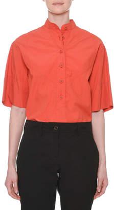 Tomas Maier Short-Sleeve Button-Down Cotton Shirt
