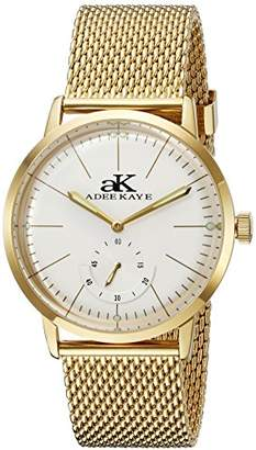 Adee Kaye Men's AK9044N-MG Vintage Slim Analog Display Mechanical Hand Wind Gold Watch