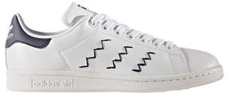 adidas Womens Stan Smith Zigzag Leather Low Top Sneakers