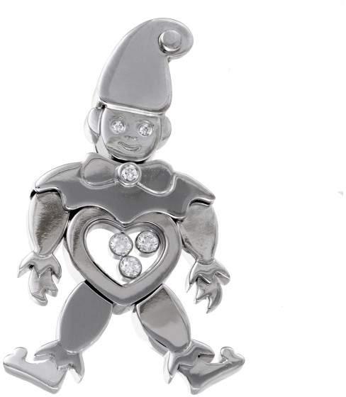 ChopardChopard Happy 18K White Gold & Diamonds Clown Pendant