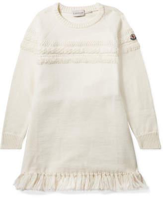 Moncler Ages 8 - 10 Metallic Tasseled Wool-blend Dress