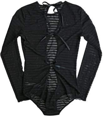 Hanky Panky Women's Shadow Stripe Long Sleeve Bodysuit