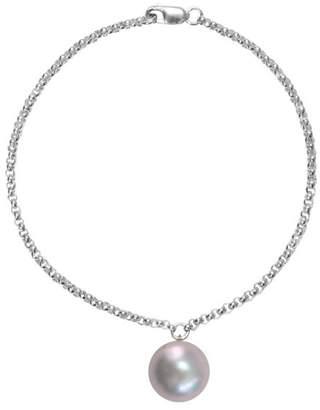 ORA Pearls - Silver Alba Bracelet Grey Pearl Charm